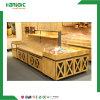 Tabla de madera supermercado alimentos a granel/Aperitivos Vitrina Estuche/bienes estantería
