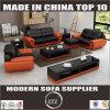 居間のソファーの一定の本革のソファー