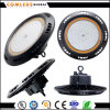 UFO 100W LED High Bay >125lm/W Design ultraplat PC/diffuseur d'Alun facultatif