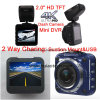 2.0  полная камера черного ящика автомобиля HD 1440p с автомобилем DVR 4.0mega CMOS, G-Датчиком, ночным видением, паркуя видеозаписывающим устройством цифров черточки вагона управления