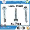 Ss 304 Scm435 parafusos sextavados com arruela Parafuso de Metal Bi
