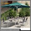 Открытый дворик полимерная дерева алюминия обеденный стол и стул, Садовая мебель
