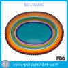 Assiette colorée pour le coucher du soleil Oval Platter