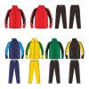 Het Jasje en de Broek van het Kostuum van de Opwarming van de Bovenkledij van het Voetbal van de douane voor Mens