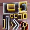 Fibra de vidrio FRP Pultrusión Perfiles estándar para escaleras, stents y bandejas de cables compuestos, rejillas pultrudadas
