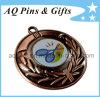 De Medaille van het badminton met Afgedrukt Embleem in Antiek Koper