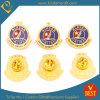 La policía de encargo de la concesión de Alaska del chapado en oro de China Badge para la promoción