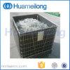 Jaula galvanizada plegable del almacenaje del objeto semitrabajado del animal doméstico del metal que empila