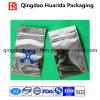 Vêtement sac d'emballage en aluminium avec fermeture éclair et logo