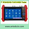 Monitor de teste de câmera de segurança CCTV de toque de 7 polegadas para câmera IP, câmera analógica, Ahd, Tvi, Cvi, Sdi