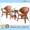 Hotel-Möbel-im Freienrattan-stapelbarer Stuhl und Garten-Flechtweiden-Tisch