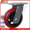6X2 Korea Typ Inustrial PU dreht Hochleistungsschwenker-Fußrolle