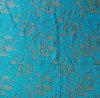 湖の青い植物相のレースファブリック100%年のポリエステル