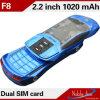 F8 se doblan teléfono celular del estilo de la dimensión de una variable del coche del color barato dual de la venda de la tarjeta de SIM mini