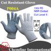 13G PE вязаные рукавицы с NBR пунктирной Palm/ EN388: 454 X