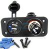 Blauer LED heller Energien-Anschluss der Doppel-USB-Aufladeeinheits-Adapter-Zigaretten-Feuerzeug-Kontaktbuchse-für bewegliches iPod