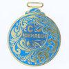 Medaglie correnti personalizzate del metallo di sport dello smalto molle di scintillio placcate oro