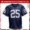 卸し売り高品質の平野の濃紺のフットボールのユニフォームジャージー(ELTFJI-75)