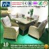D'osier de plein air Table et chaises en rotin Ensembles de meubles meubles de salle à manger de l'hôtel Set (TG-HL28-1)