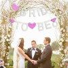 Coração Rosa Bunting Banner Pavilhão Casamento Decoração Banner