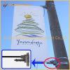 表記ポスター画像の屈曲の旗のハードウェア(BT23-07)を広告している街灯柱