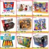 Windows 전시를 가진 아이 장난감 & 선물을%s 카드 서류상 포장 상자