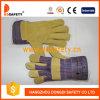 Parte posterior 2017 de algodón de la piel de cerdo de Ddsafety para los guantes de trabajo generales