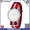 Lujo YXL-258 Promoción diamante relojes de los hombres de las mujeres de la OTAN de cuarzo reloj de pulsera unisex Nylon Reloj Masculino Relógio vestido de pulsera