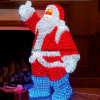 Decorações de Natal Ao Ar Livre Fibra Óptica Santa Motif Lights
