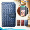 Weaving Grain Wallet Leather Flip Cover Case for Bq Aquaris M5