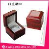 Boîte de bijoux d'anneau de cadeau en bois de qualité mini