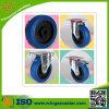 Blaues Elastic Rubber Caster und Wheel