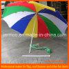 Guarda-chuva colorido impresso Digitas do costume do arco-íris