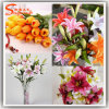 Il giardino di fiori artificiali della Cina fiorisce i fiori di seta