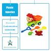 De aangepaste Plastic Delen van het Afgietsel van de Injectie van het Speelgoed van de Jonge geitjes/van de Kinderen van Punten Plastic