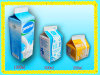 Mini200ml caixa Pasteurized 3 camadas da parte superior do frontão do leite