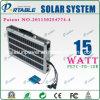 sistema di illuminazione domestico solare portatile 15W (PETC-FD-15W)