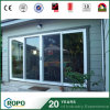 3 portes en verre de glissement de rendement optimum du panneau UPVC