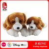 プラシ天の動物のおもちゃのビーグル犬の柔らかい詰められたトイドッグ