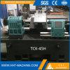 Máquina inclinada barata del torno del CNC de la base del metal del motor de Tck-45h para la venta