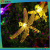 Шнур украшения освещает свет рождества формы Dragonfly солнечный