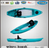 Kayak non gonflable transparent inférieur simple de pêche