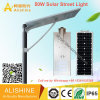 50W IP68는 옥외 통합 태양 LED 가로등을 방수 처리한다