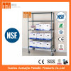 Standard 820 lbs NSF-BSCI Werbungs-6 Schichten Chrom-Metalldraht-Regal-
