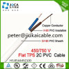 Naakte Solid Copper Flat TPS Cable met pvc Sheath