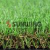 Venta caliente plástico sintético de exuberantes jardines de césped artificial