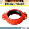 Accouplement flexible de pipe de FM/UL de fer malléable Grooved approuvé d'ajustage de précision