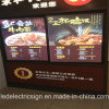 LED Menu Signboard voor Restaurant