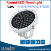 Luz de inundación al aire libre externa del proyector IP65 RGB 30W 54W DMX LED de la cubierta blanca de aluminio