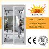 Porte coulissante de double panneau en verre en aluminium